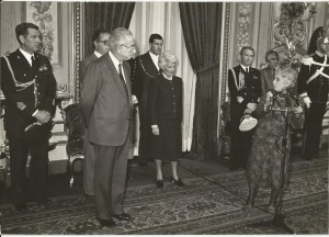 Incontro al Quirinale con il Presidente Cossiga Carlotta Orlando Flavia della Gherardesca